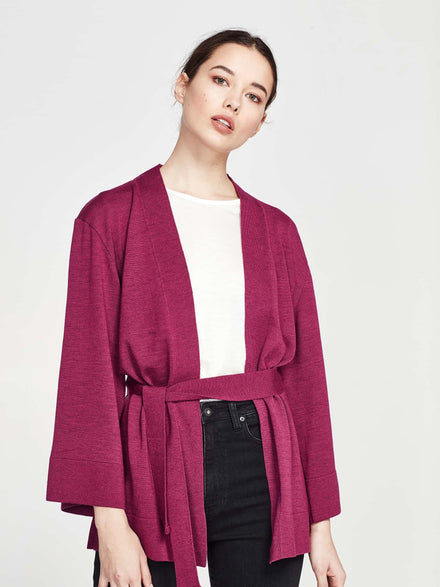 Barb Coat (Wool Melton) Magenta