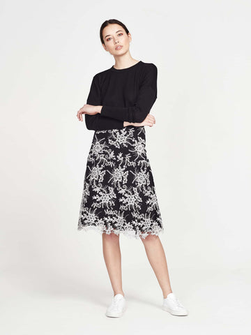 Rosemund Skirt (Monochrome Lace) Monochrome