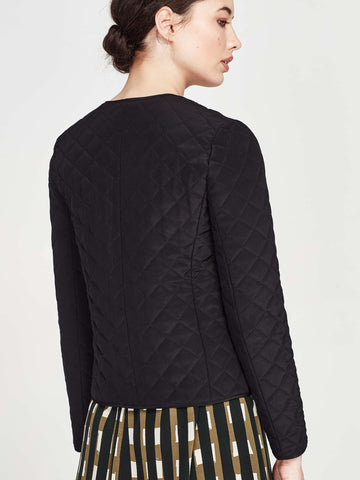 Willa Jacket (Quilted Crepe) Black