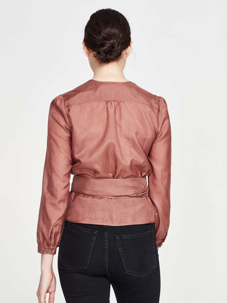 Silken Blouse (Silk Cotton) French Rose