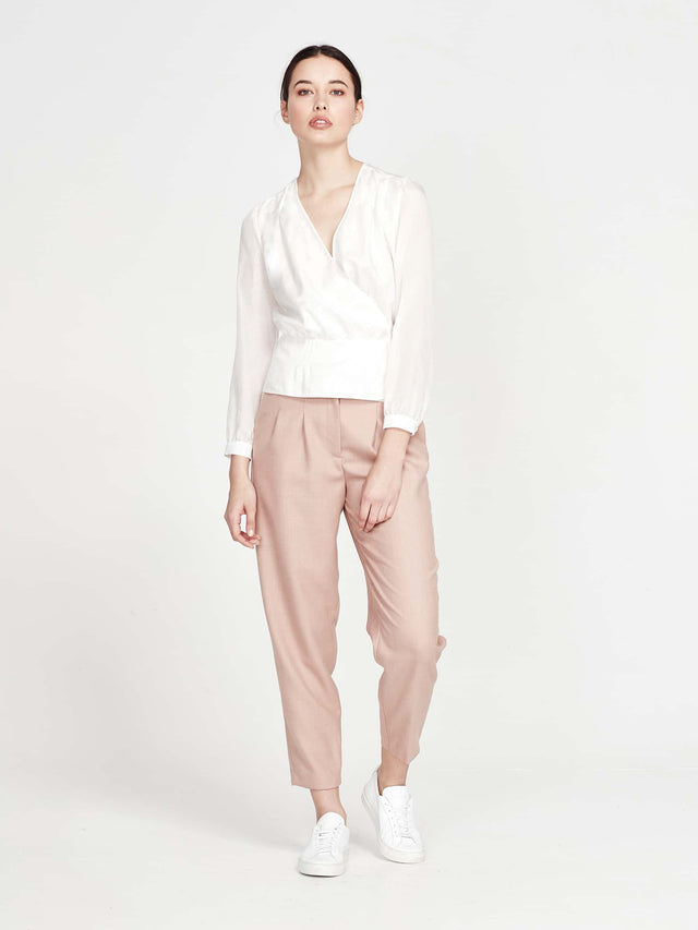 Silken Blouse (Silk Cotton) Ivory