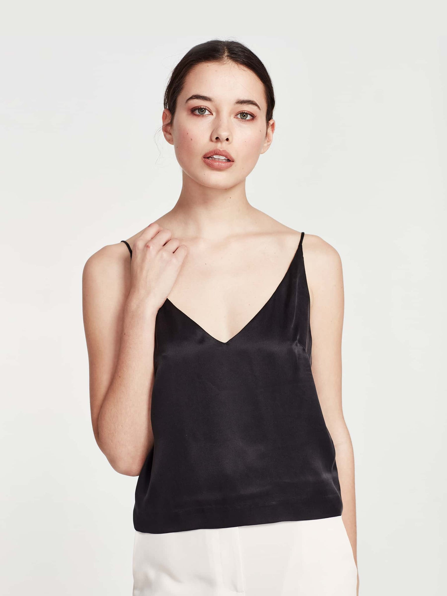 Bay Cami (Sandwash Silk) Black