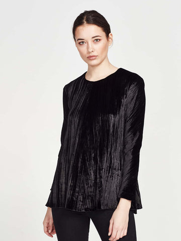 Silken Blouse (Silk Cotton) Black