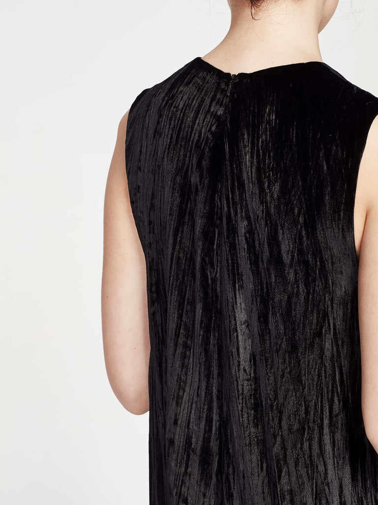 Tempo Dress (Textured Velvet) Oil