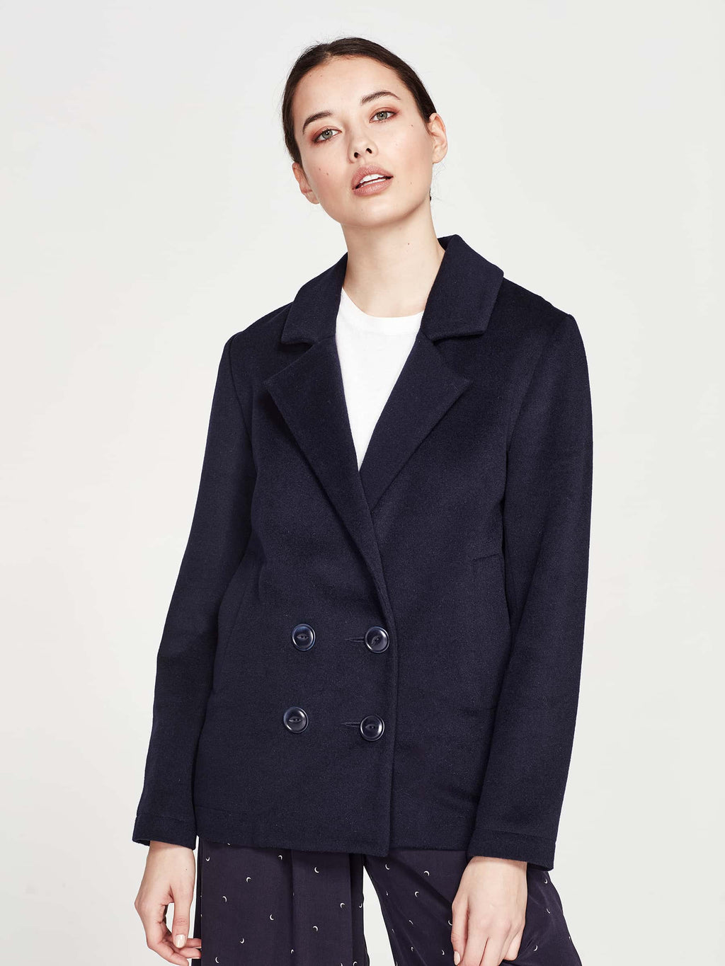 Andrew Jacket (Wool Coating) Royal