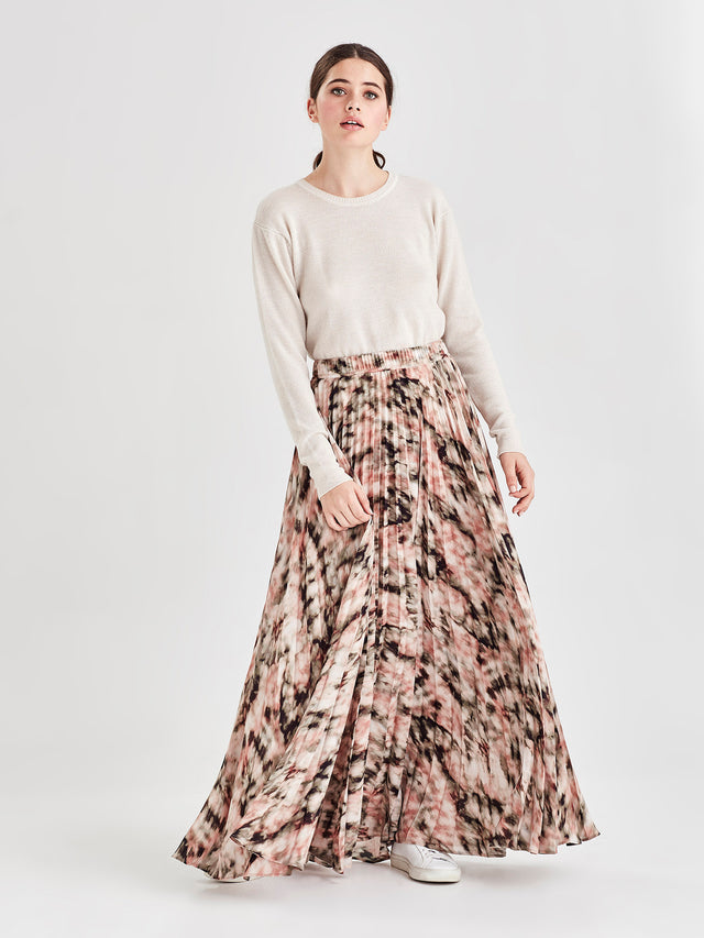 Evelyn Pleat Skirt (Ashbury Print) Tie Dye