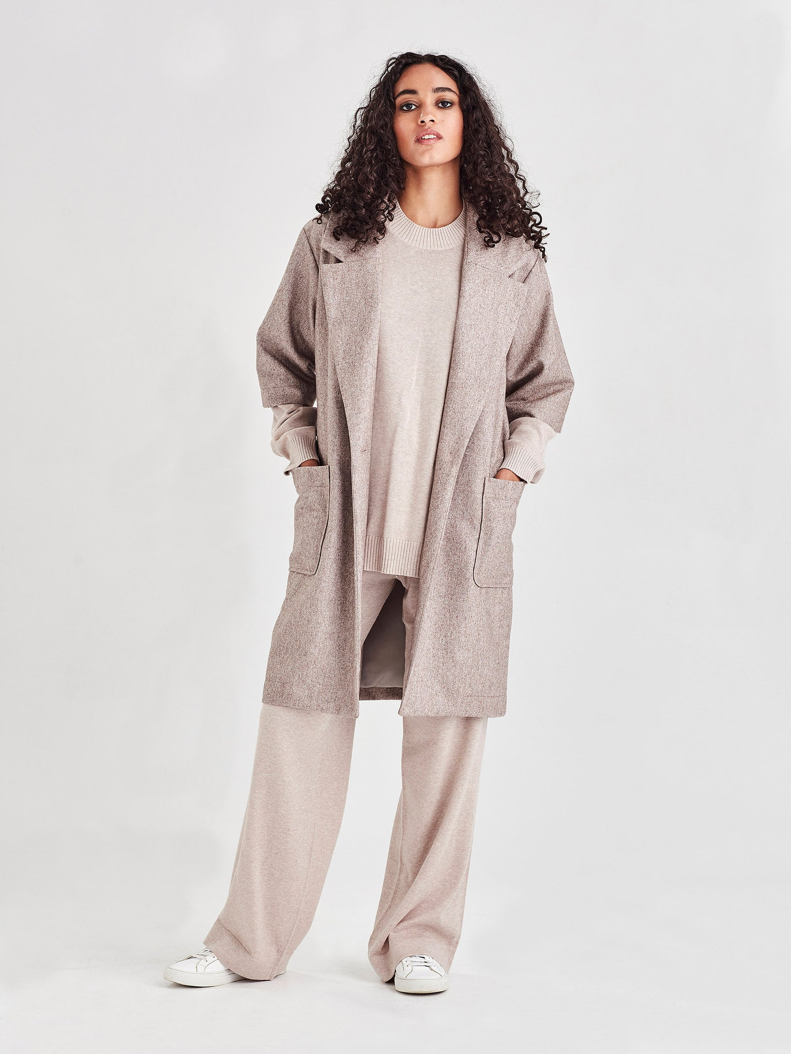 Duster Coat (Blanket Tweed) Coffee