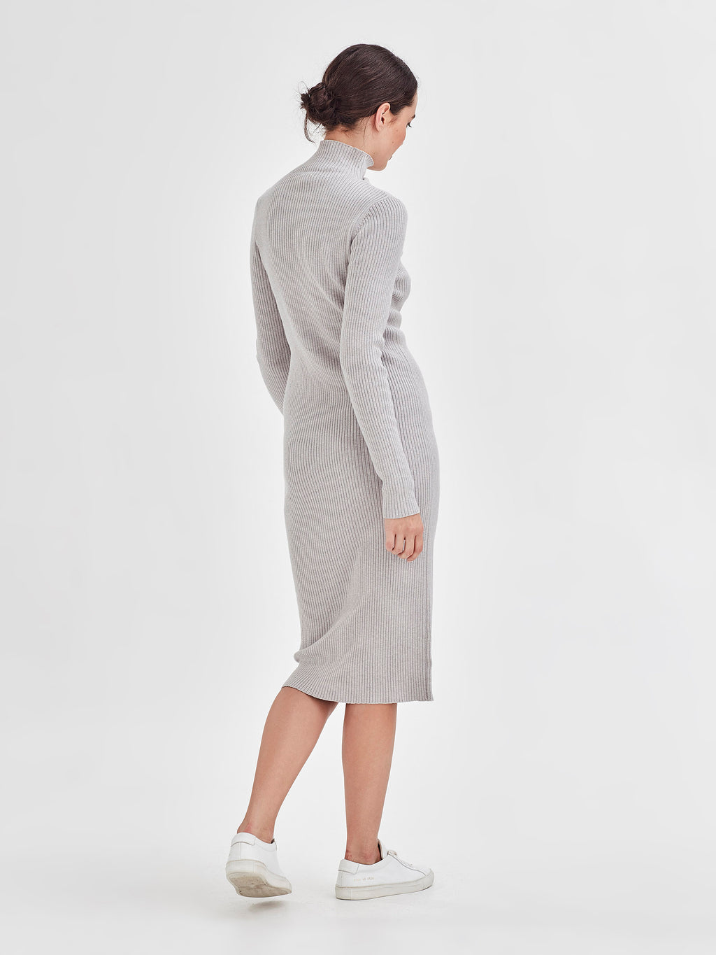 Apres Rib Dress (Cotton Cash Rib) Ash