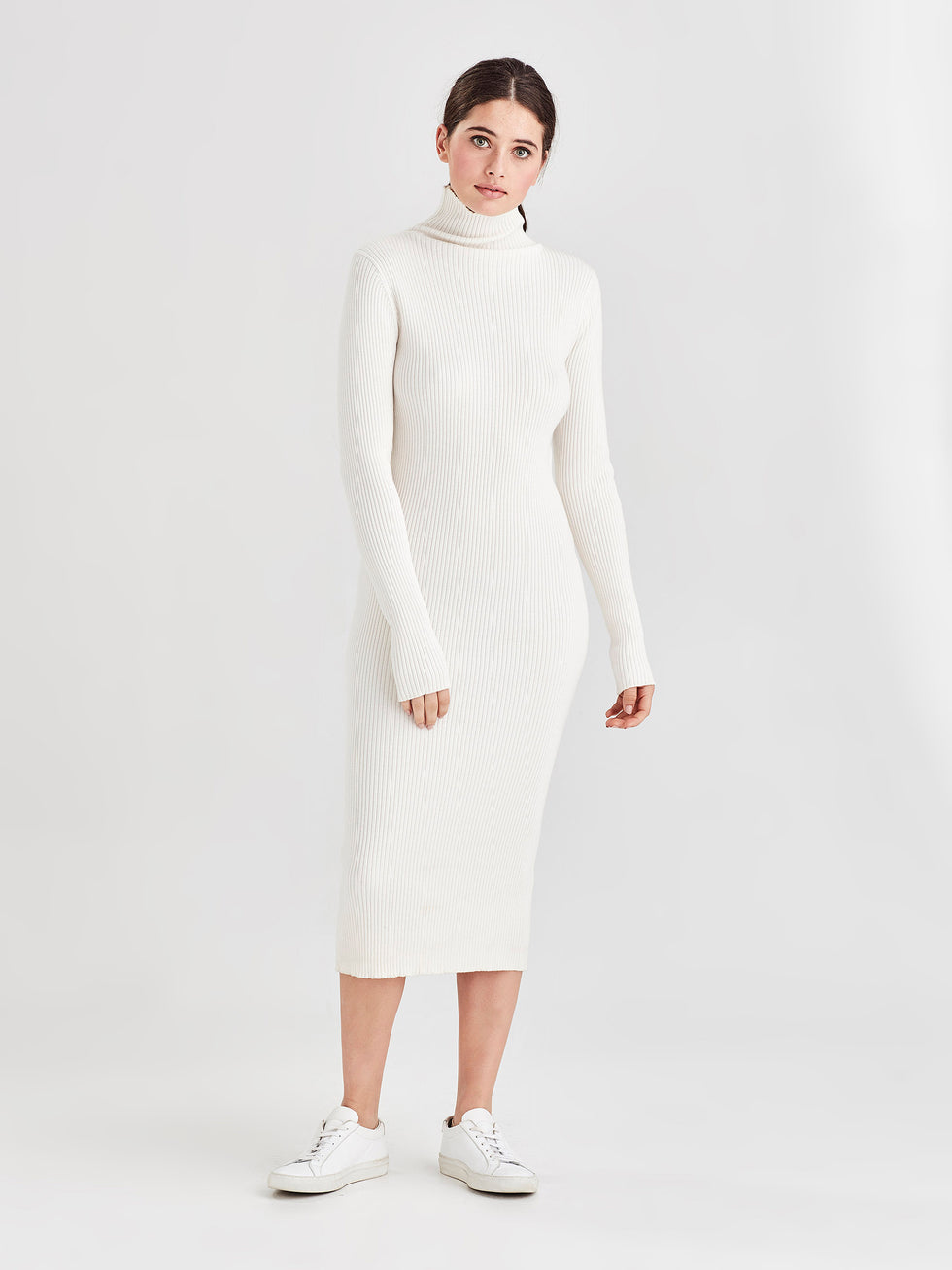 Apres Rib Dress (Cotton Cash Rib) Snow