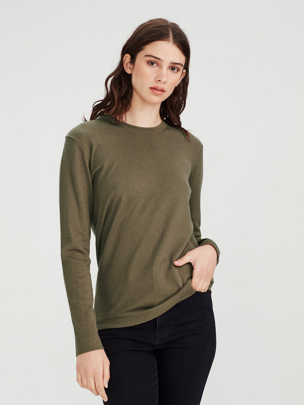 LS Luxe T (Cotton Cashmere) Moss