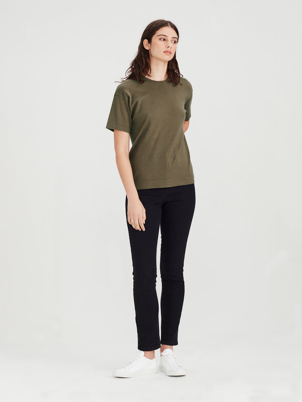 Luxe T (Cotton Cashmere) Moss