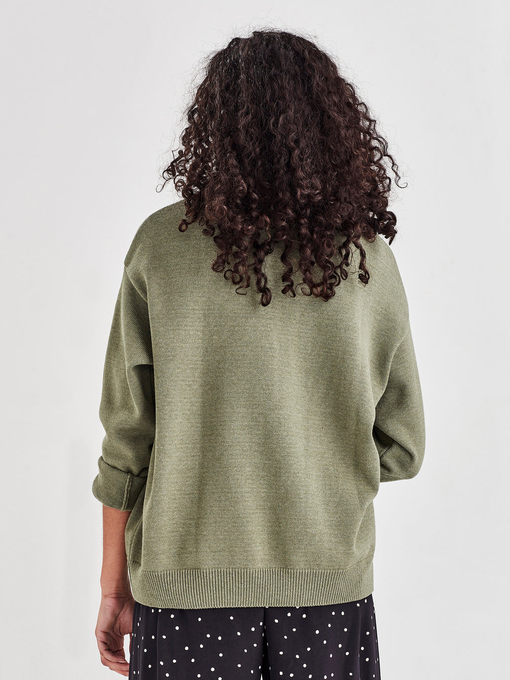 Cotton Sweatshirt (Cotton Knit) Moss
