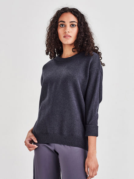 Cotton Sweatshirt (Cotton Knit) Navy