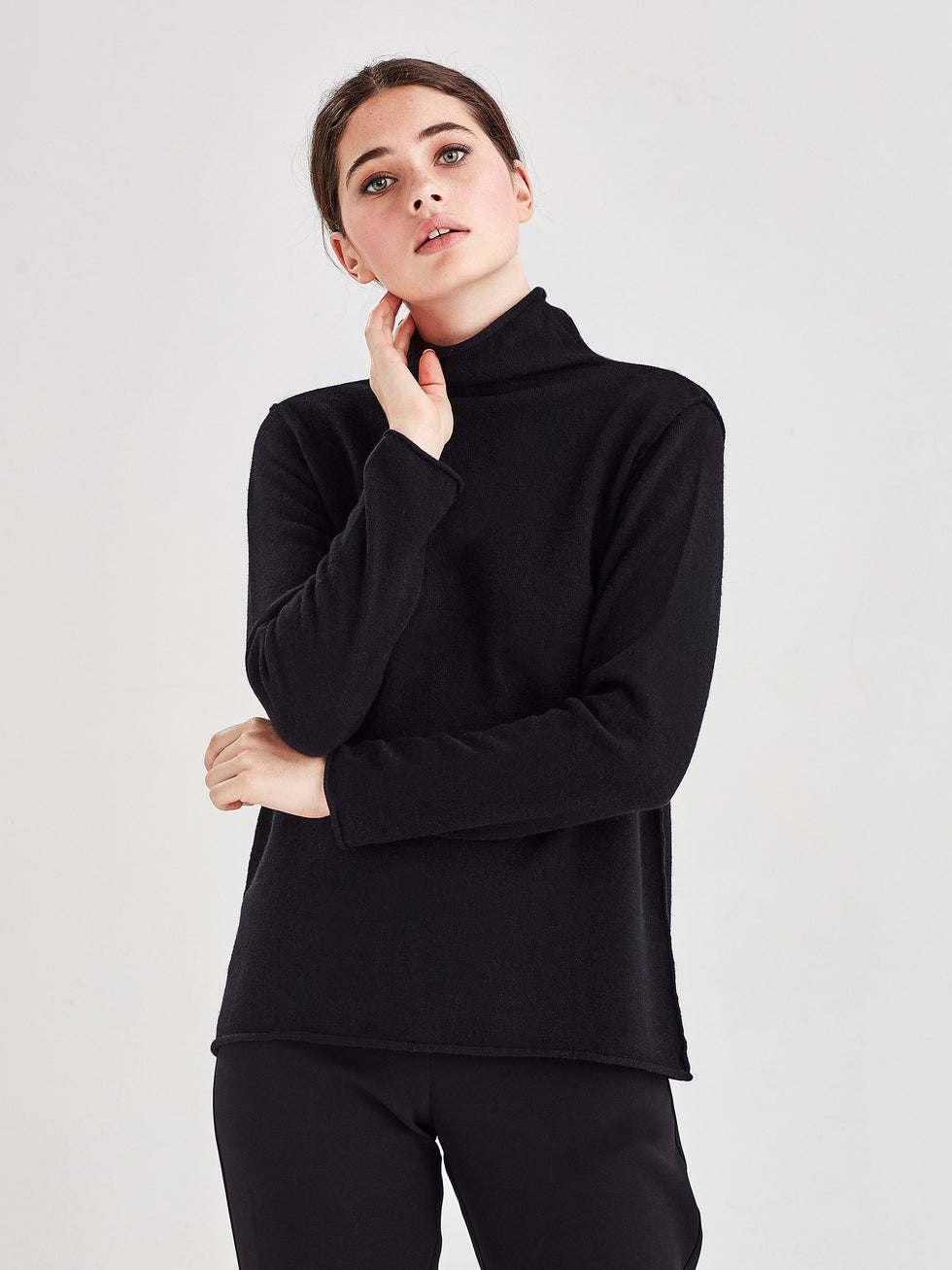 Ever Cashmere Top (Cashmere) Black