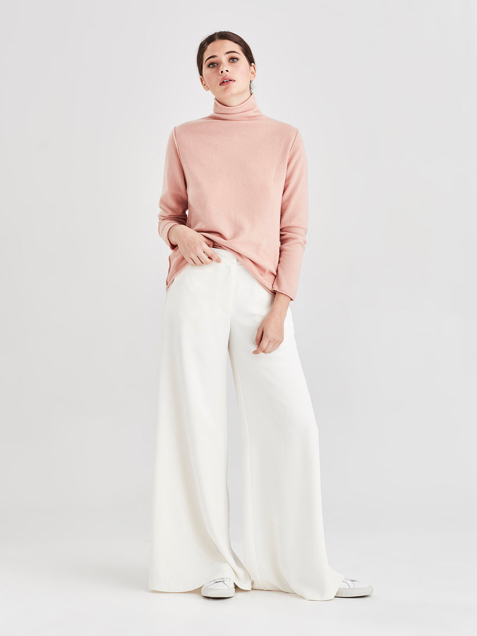 Ever Cashmere Top (Cashmere) Tea Rose