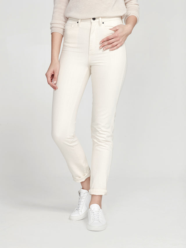Straight Leg Jean (Denim) Ecru
