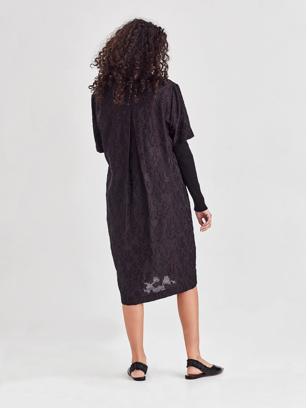 Jasper Tunic (Floral Night Jacquard) Jet