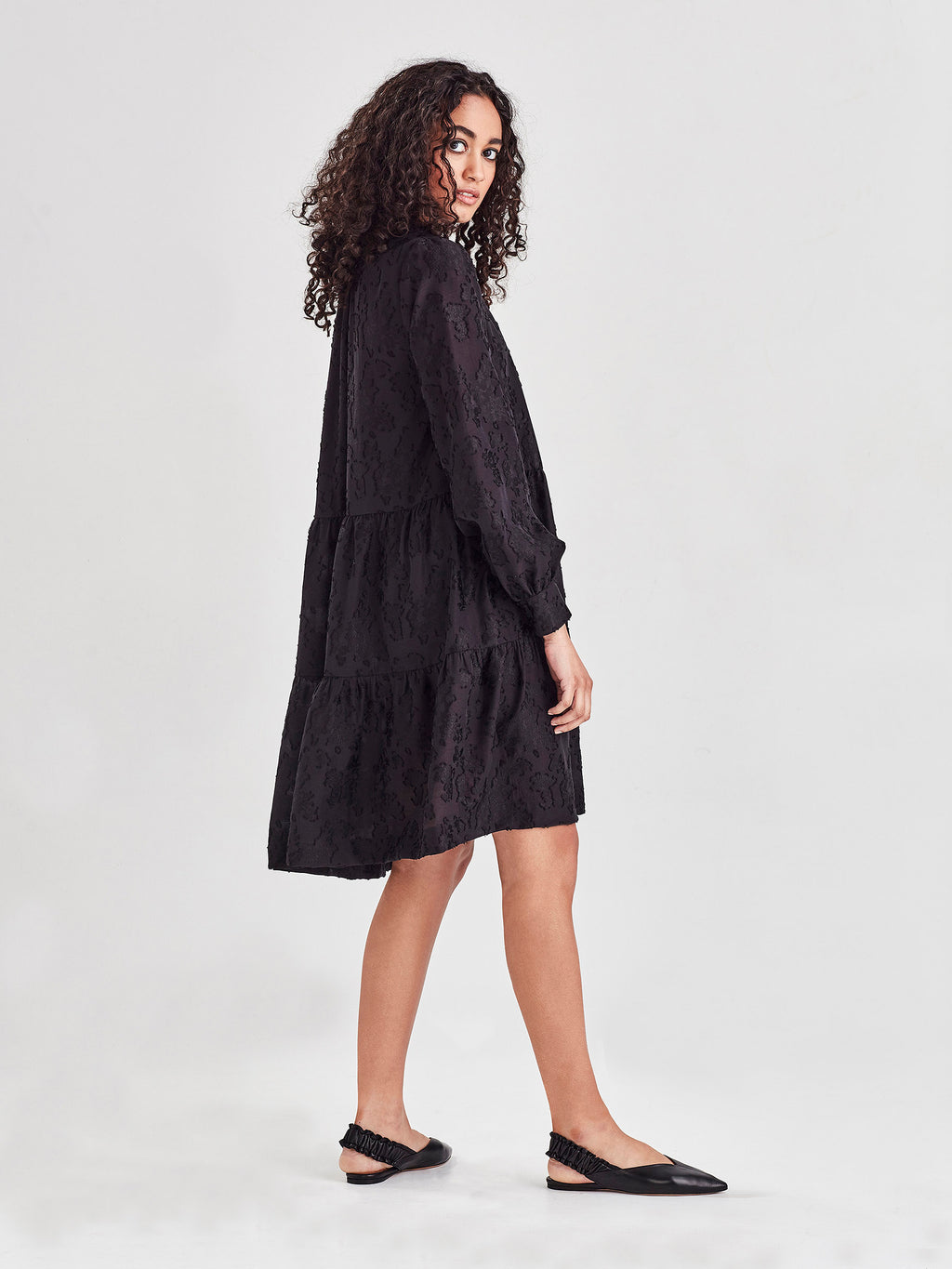 Pattie Tunic (Floral Night Jacquard) Jet