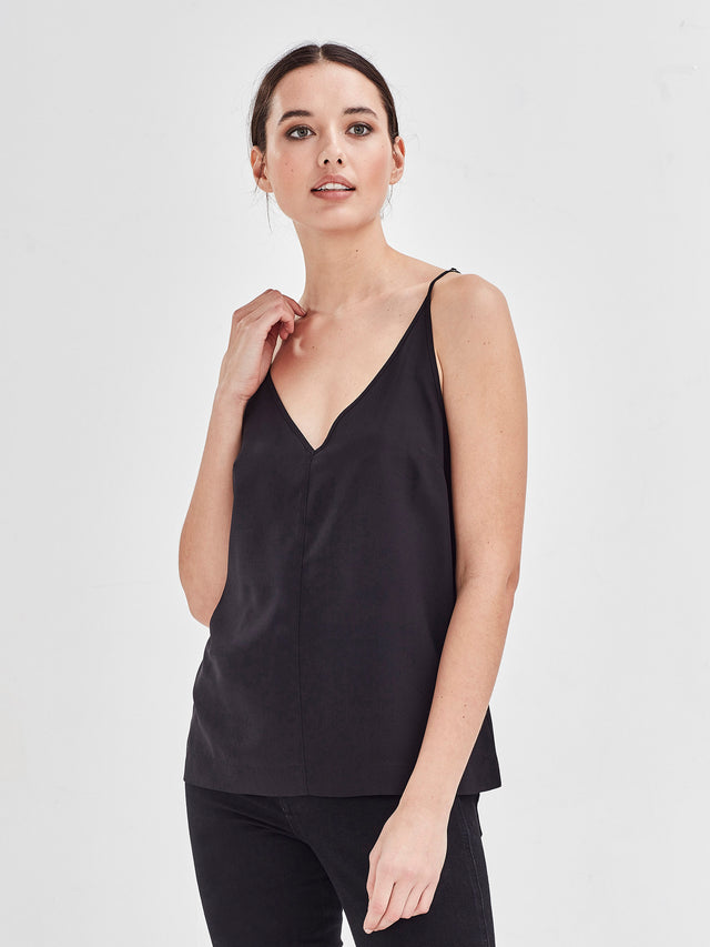Aggie cami (heavy silk cdc) Black