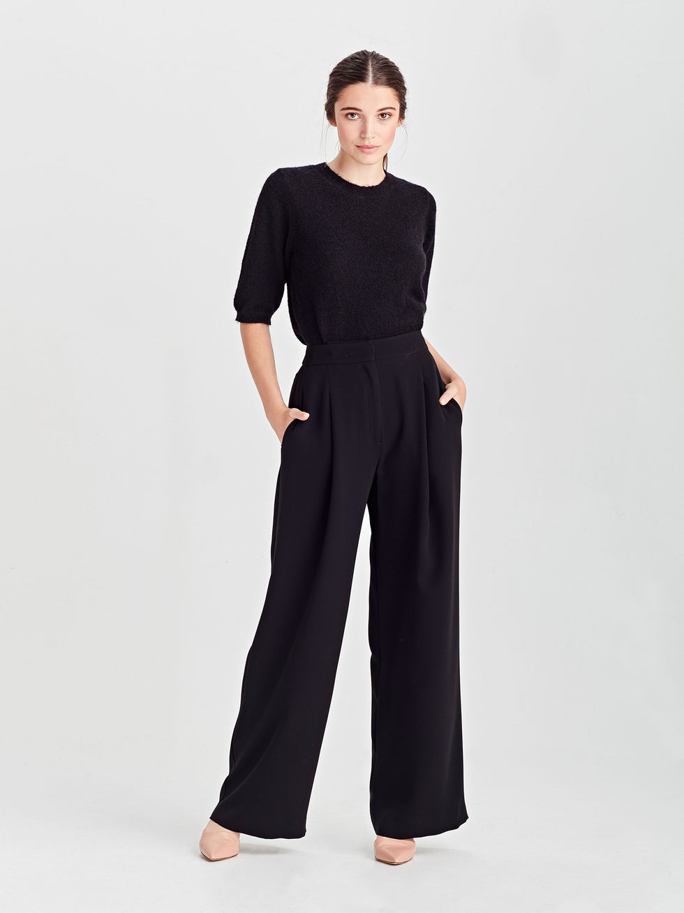 Calla Culotte (Luxe Triacetate) Black