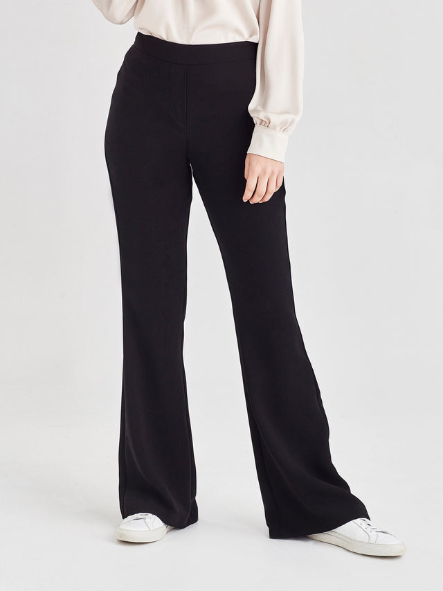 Flare Pant (Luxe Triacetate) Black
