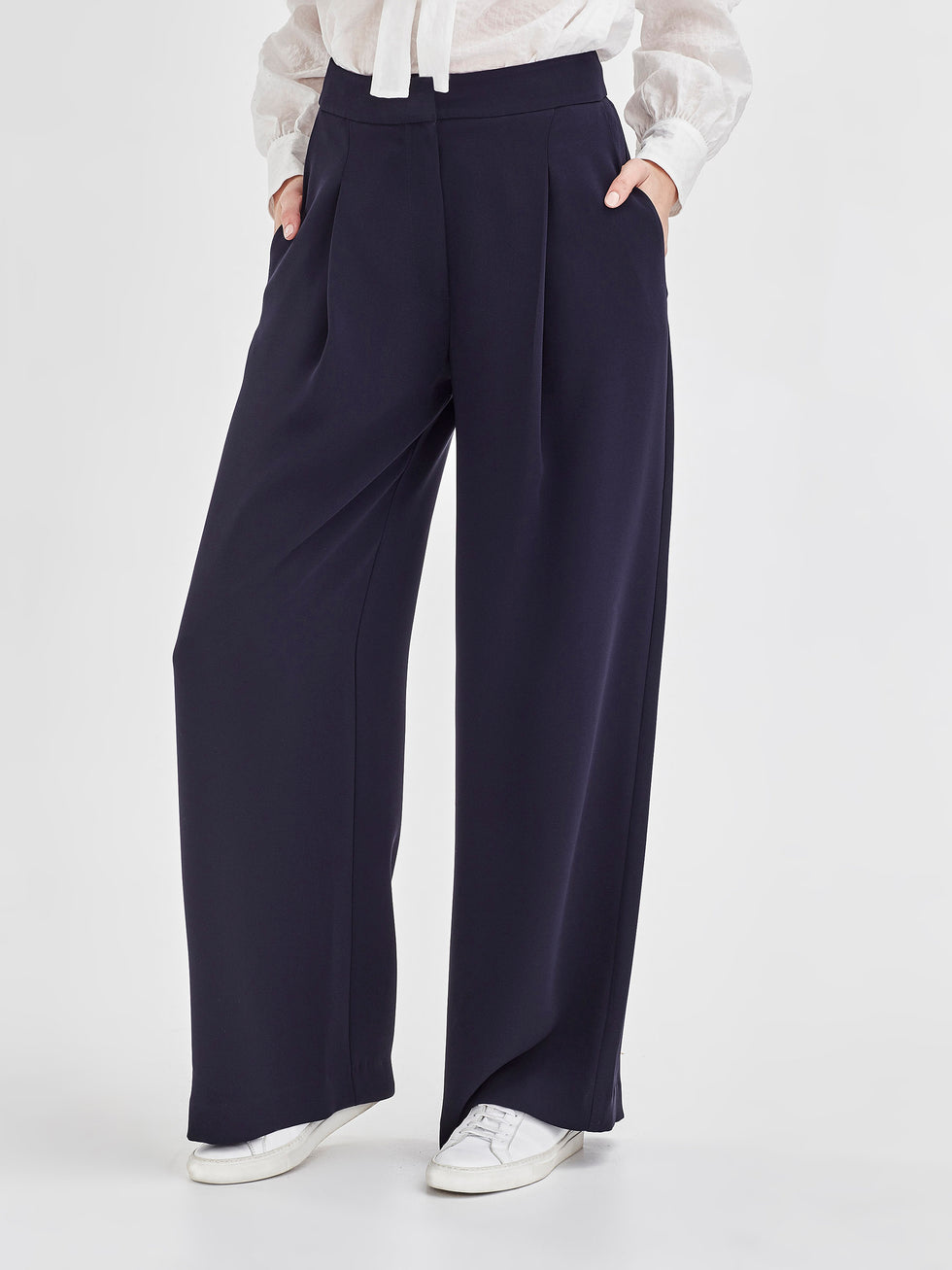 Calla Culotte (Luxe Suiting) Navy
