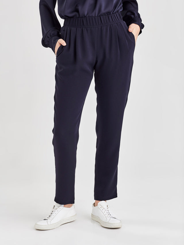 Malfoy Pant (Luxe Coloured Suiting) Navy