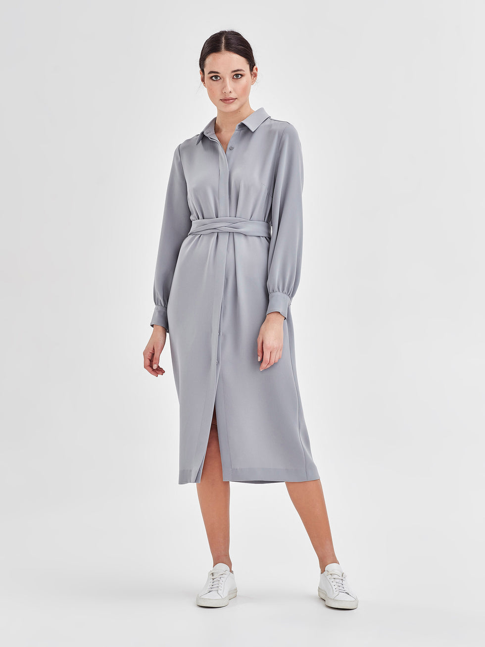 Molly Shirt Dress (Luxe Suiting) Duck Egg
