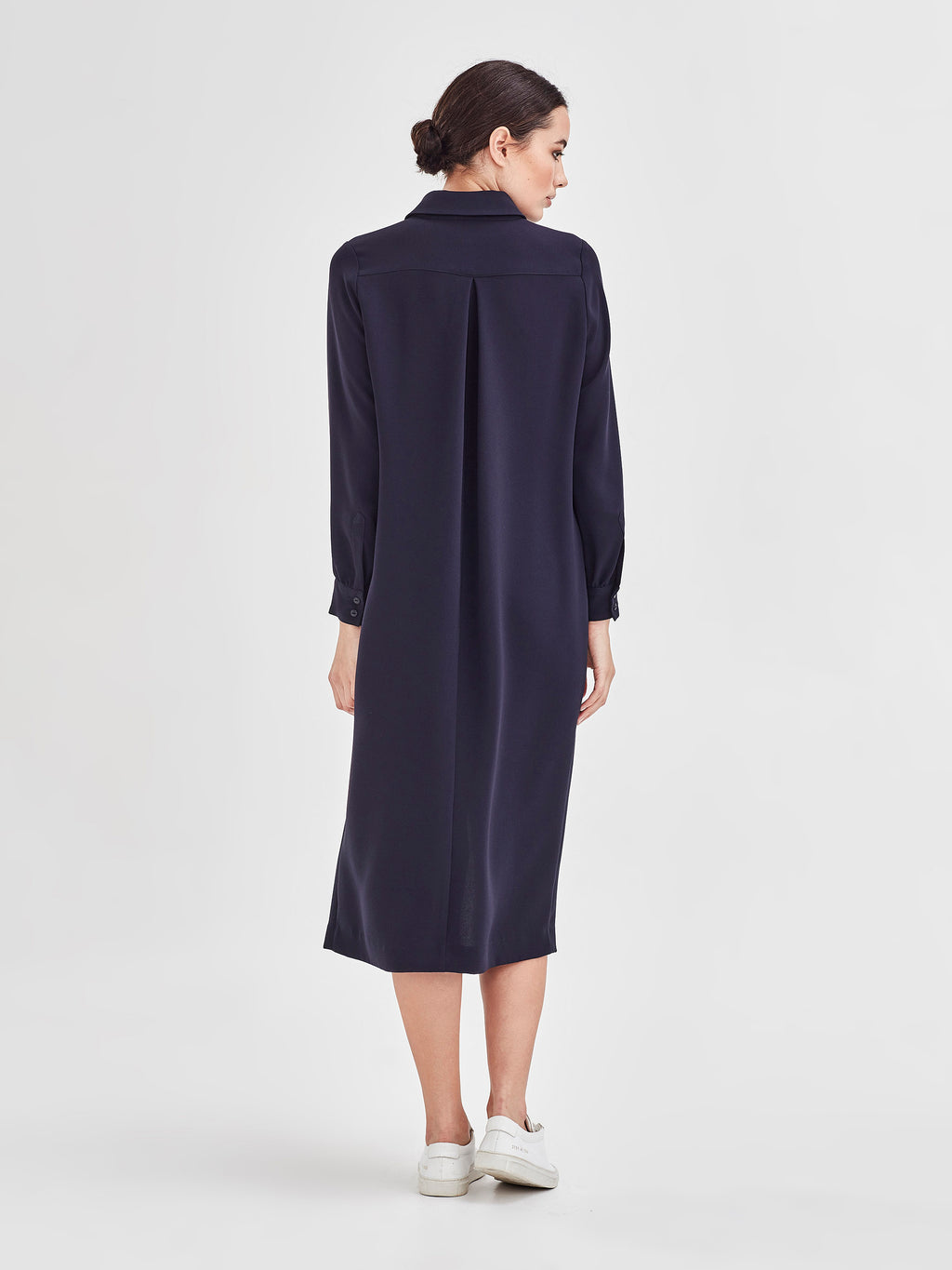 Molly Shirt Dress (Luxe Suiting) Navy
