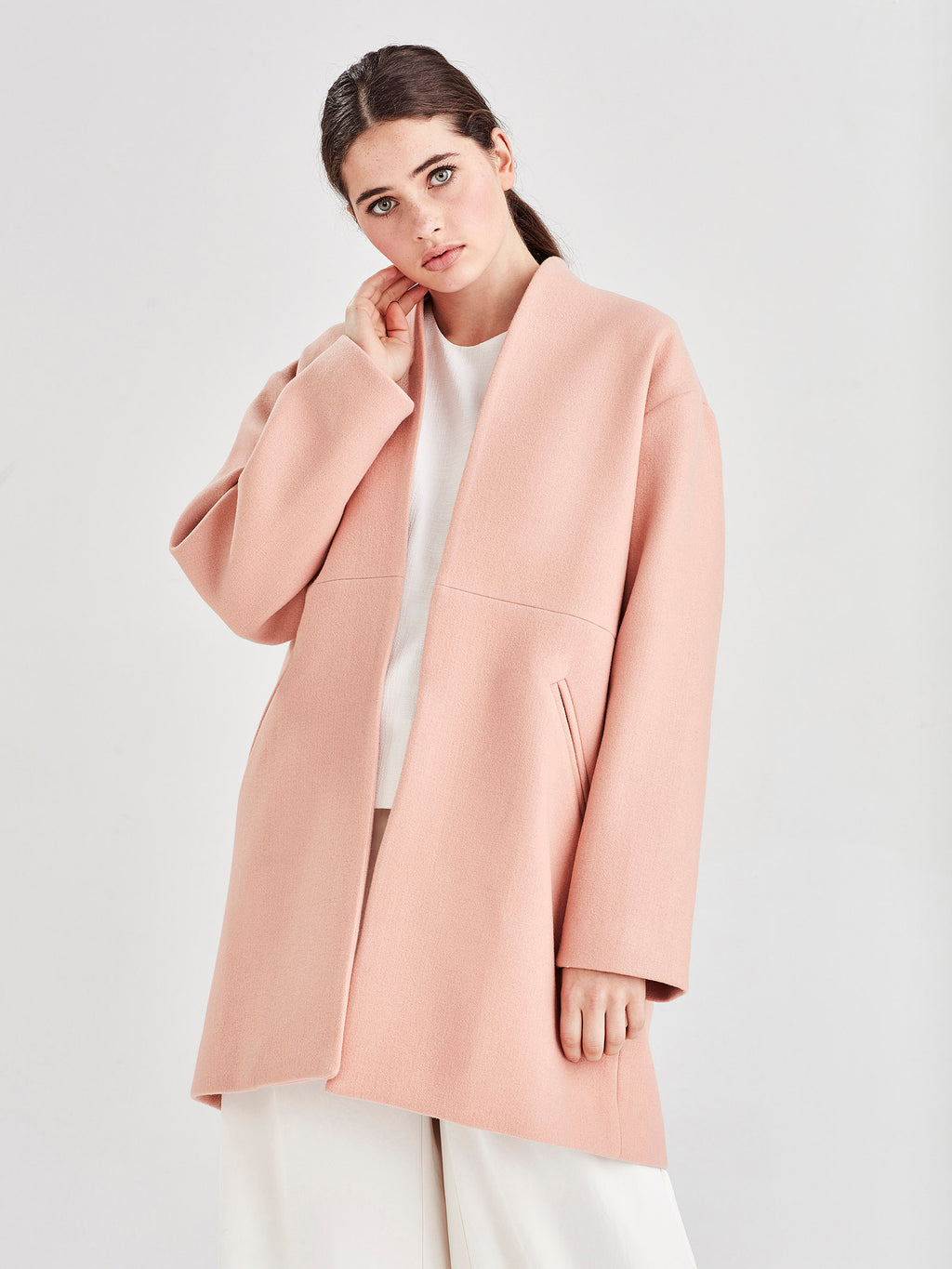 Saville Coat (Luxe Wool Coating) Tea Rose