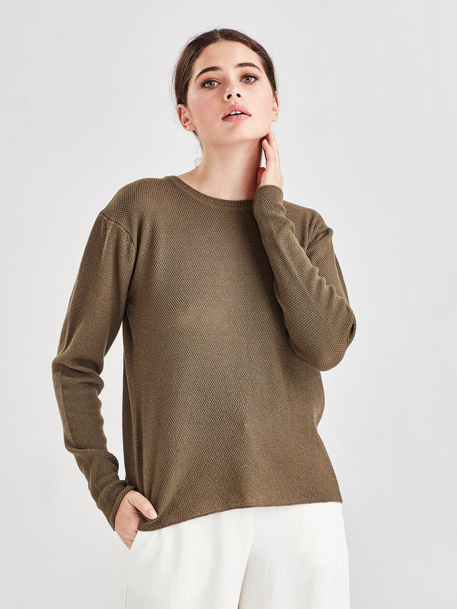 Layer Merino Sweater (Merino Knit) Green Olive