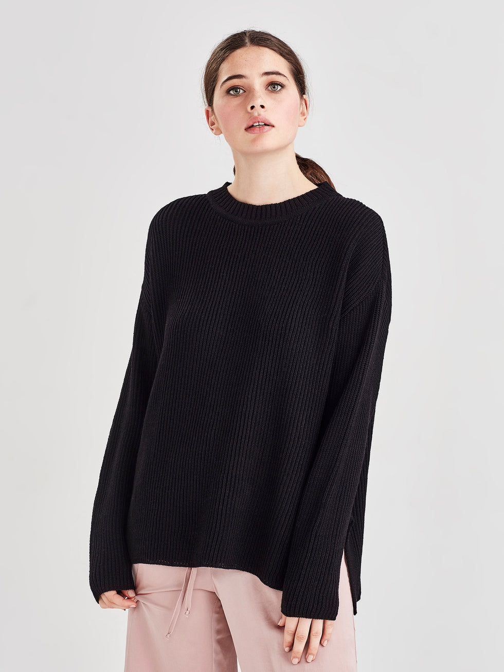 Merino Rib Sweater (Merino Knit) Black