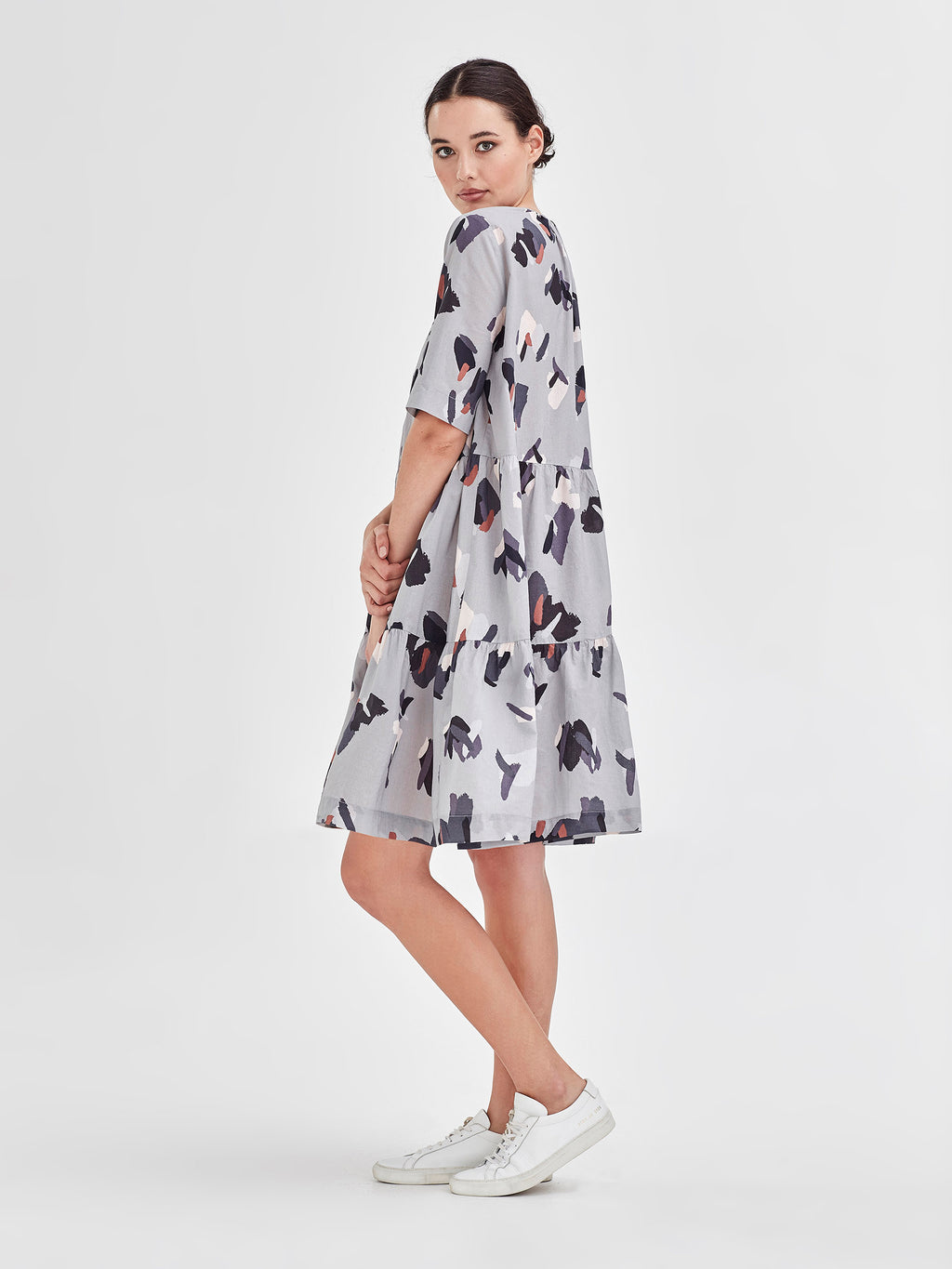 Field Tunic (Palette Print Cotton) Sky