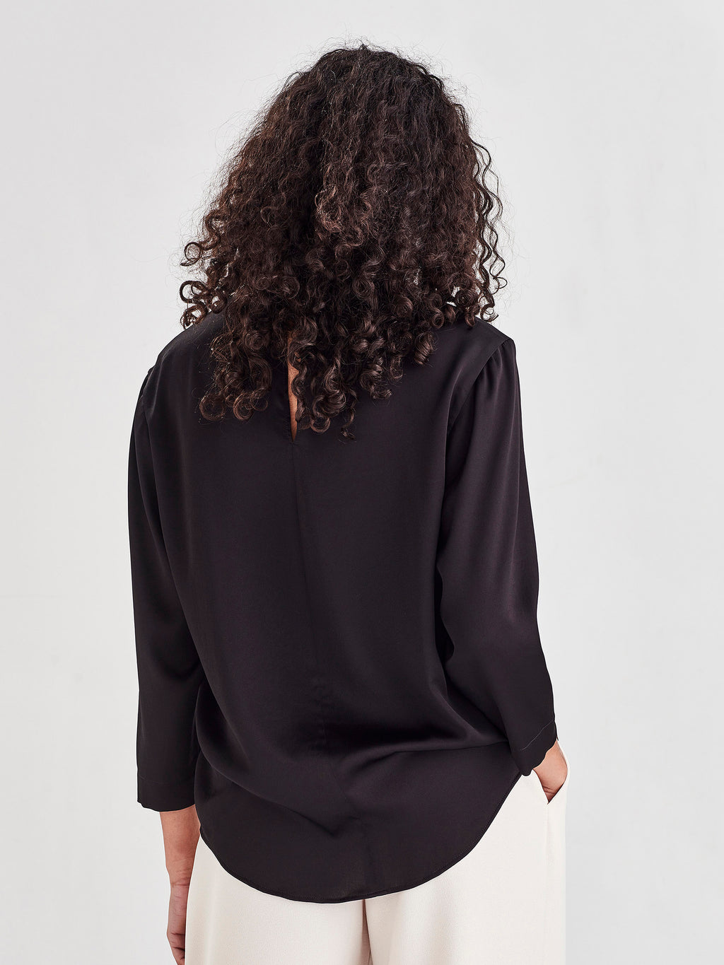 Parlour Blouse (Satin Triacetate) Black