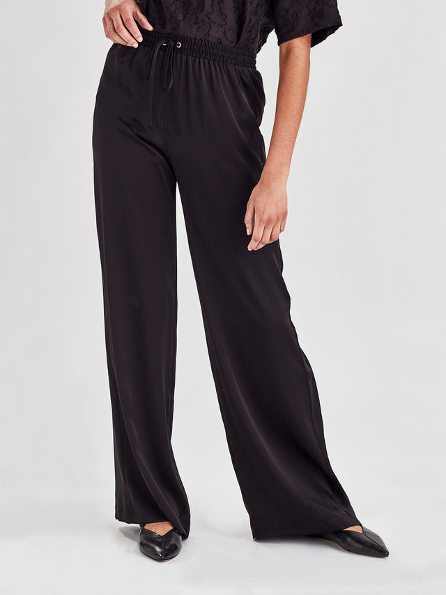 Polly Pant (Satin Triacetate) Black