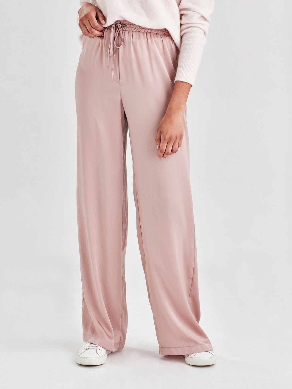 Polly Pant (Satin Triacetate) Blush