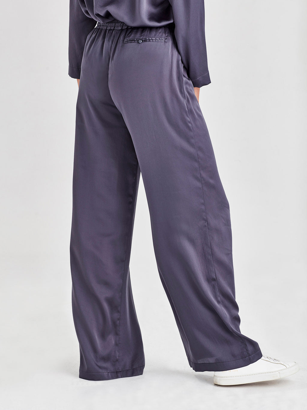 Polly Pant (Satin Triacetate) Smoke