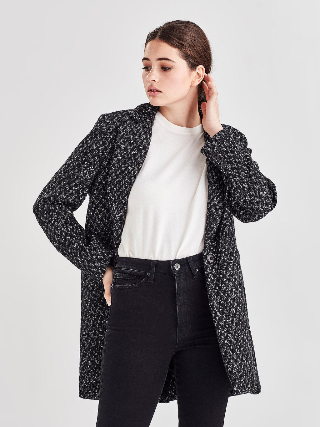 Dahl Coat (Speckled Boucle Coating) Speckle