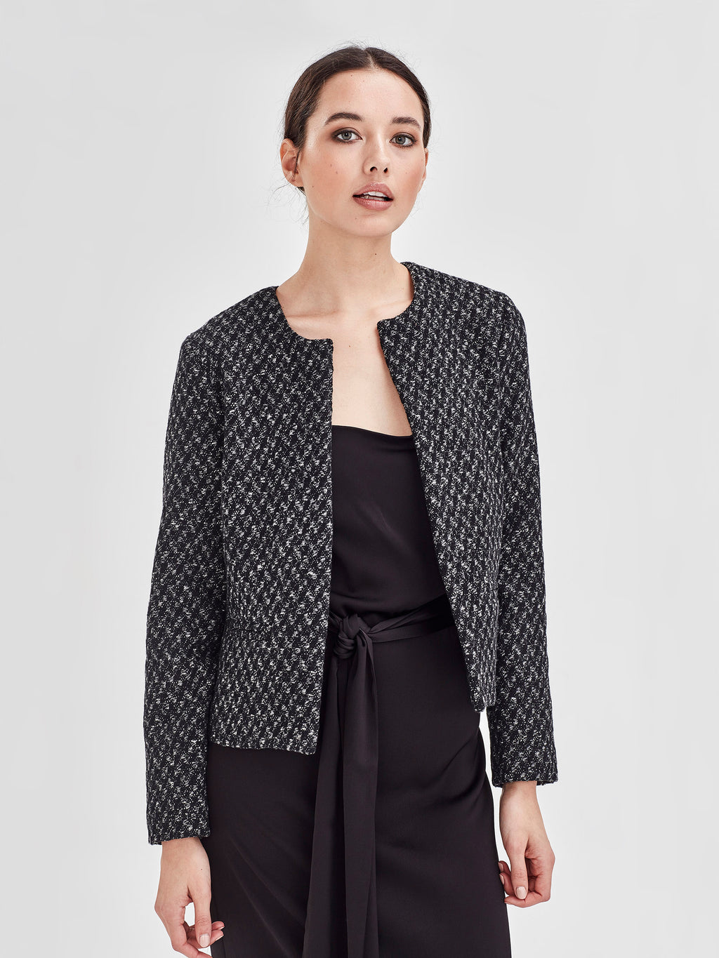 Scott Jacket (Speckled Boucle Coating) Speckle