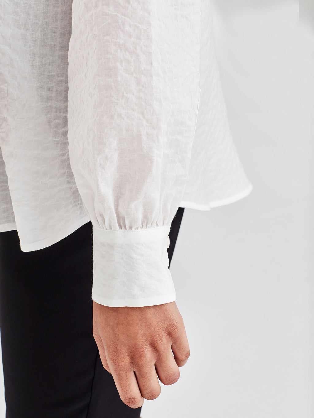 Palace Blouse (Seersucker Cotton) White