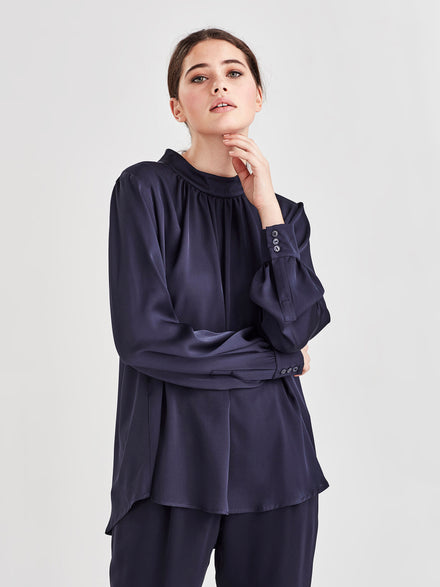 Alice Blouse (Cotton Crepe) Black