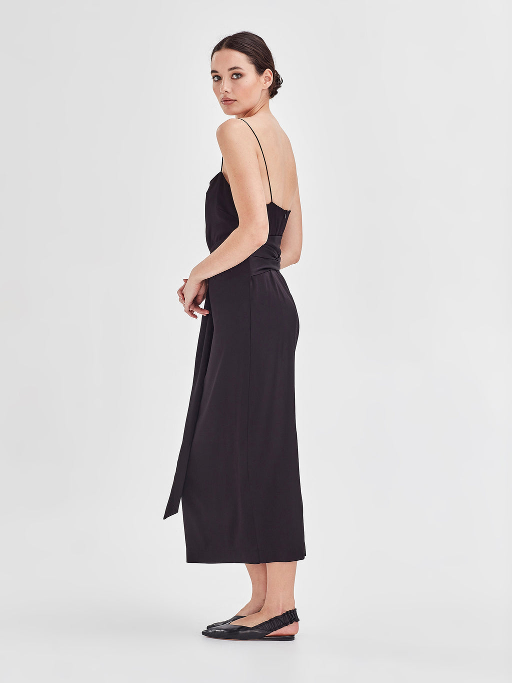 Grad Dress (Stretch Satin) Black