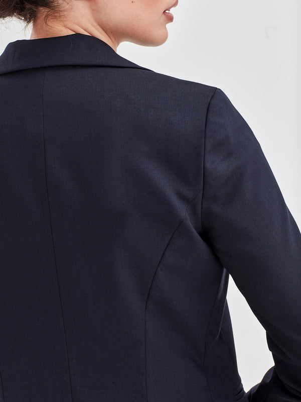 Jilly Jacket (Wool Stretch Suiting) Navy