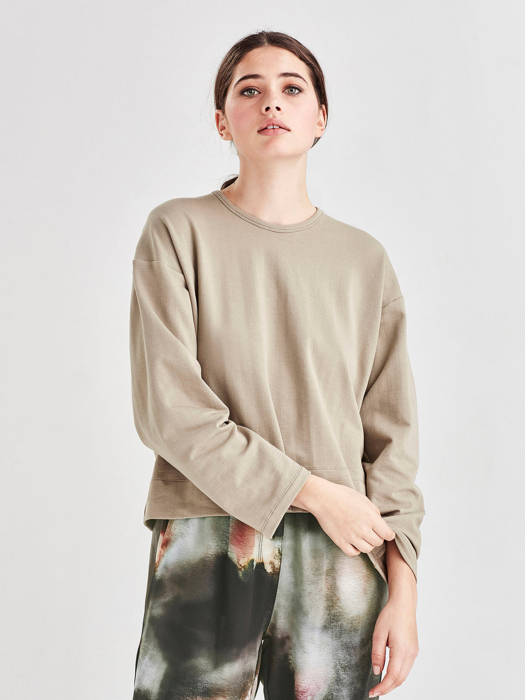 L/S Box T (Luxe Cotton Sweatshirting) Sage