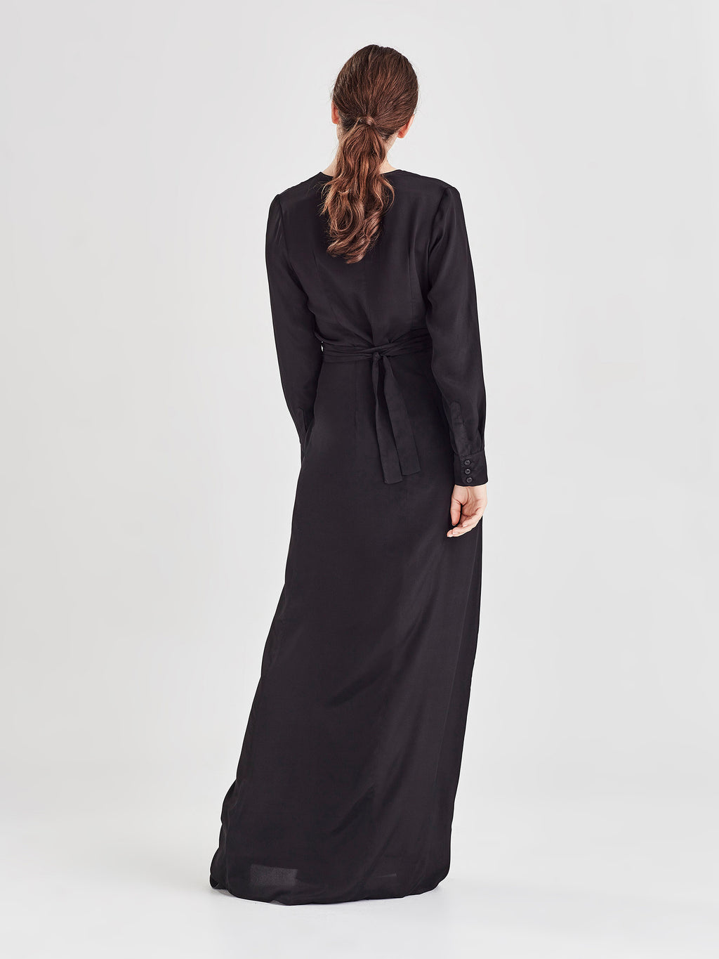 Danielle Dress (Viscose Silk) Black