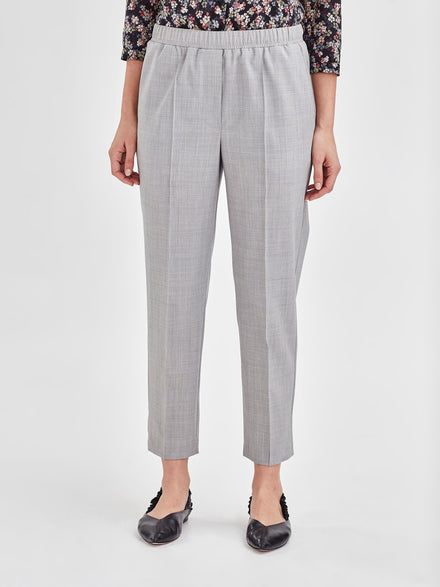 Tuck Pant (Silver Wool Suiting) Fog