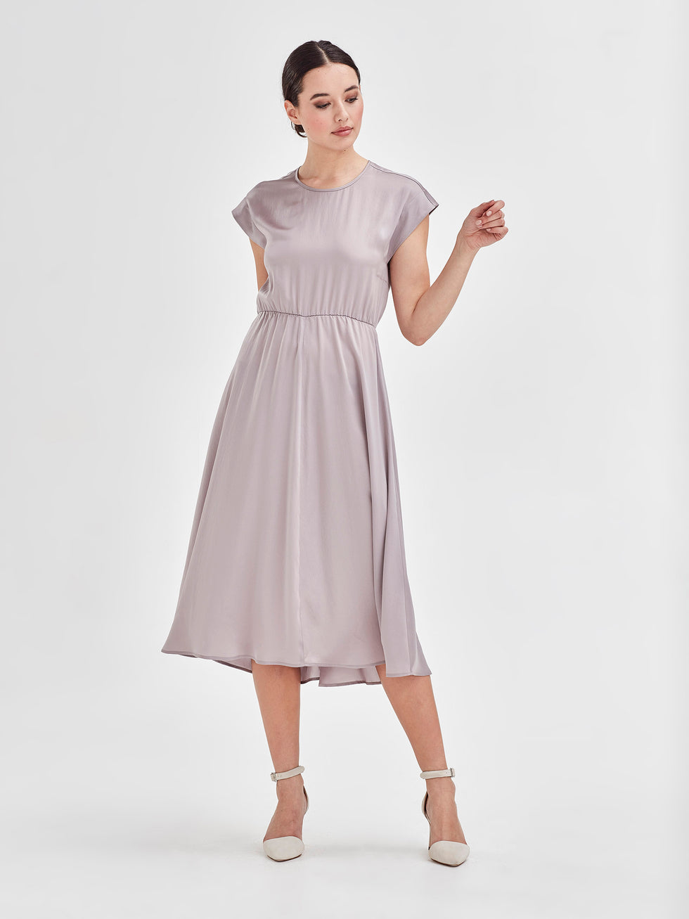 Ella Dress (Satin Triacetate) Golden 2
