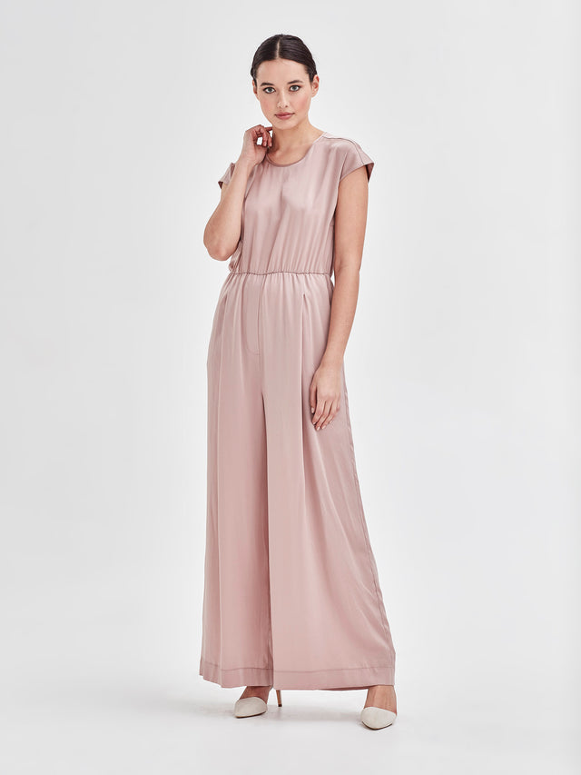 Ella Jumpsuit (Satin Triacetate) Wine 3