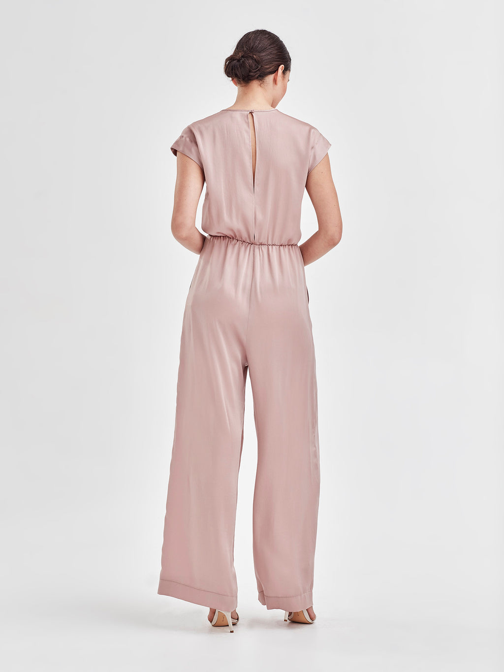 Ella Jumpsuit (Satin Triacetate) Wine 1
