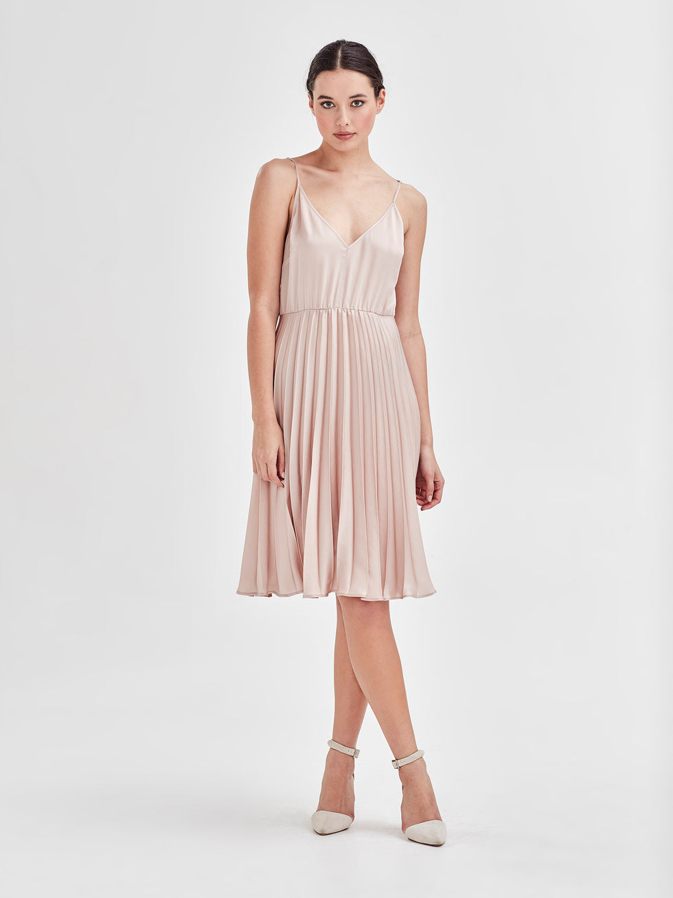 Joan Dress (Satin Triacetate) Wine 1